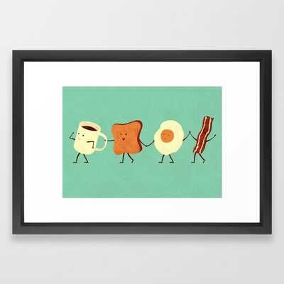 Let's All Go And Have Breakfast Framed Art Print - 15x21 - Society6