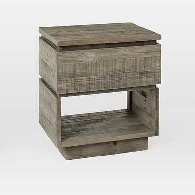 Emmerson(R) Modern Reclaimed Wood Nightstand, Stone Gray - West Elm