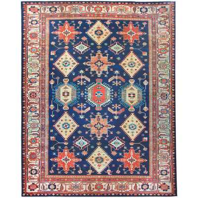 Ruggable -Washable Noor Sapphire (Blue) 8 ft. x 10 ft. Stain Resistant Area Rug - Home Depot