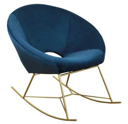 Kamila Navy Velvet Chair - Maren Home