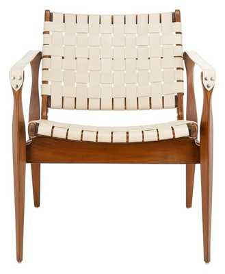 DILAN LEATHER SAFARI CHAIR - Arlo Home