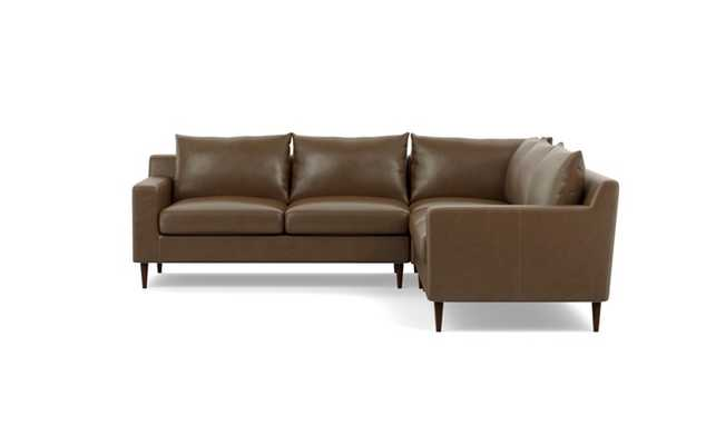 SLOAN LEATHER Leather Corner Sectional Sofa - Interior Define
