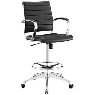 JIVE DRAFTING CHAIR IN BLACK - Modway Furniture