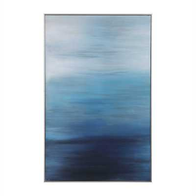 Moonlit Sea Hand Painted Canvas - Hudsonhill Foundry