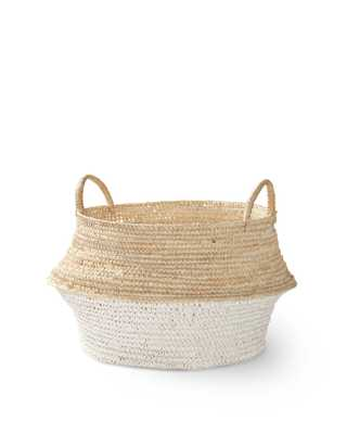 Round Belly Basket - Small - White - Serena and Lily