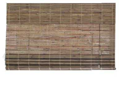 Driftwood Flatweave Bamboo Roman Shade - 47 in. W x 48 in. L (Actual Size 46.5 in. W x 48 in. L) - Home Depot