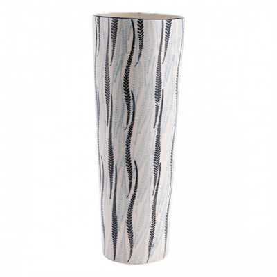 Espiga Tall Vase White & Black - Zuri Studios