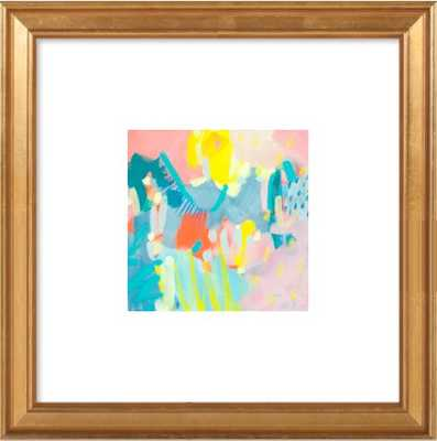 "Muffin Top - 8x8"" - Gold leaf wood frame with 2.75"" mat - Artfully Walls"