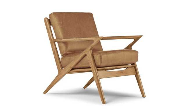 Soto Leather Chair-Colonade Sycamore-Cherry Wood Frame - Joybird