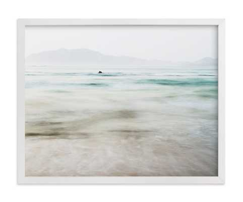 """The Pacific - 14"""" x 11"""", white wood frame - Minted"""