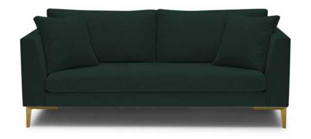 Green Ainsley Mid Century Modern Sofa - Royale Evergreen - Joybird