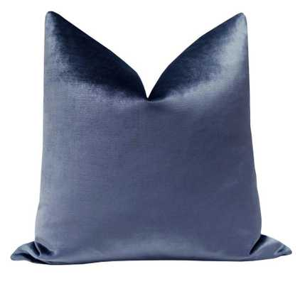 Signature Velvet // Prussian Blue Throw Pillow Cover - 26x26 - Little Design Company