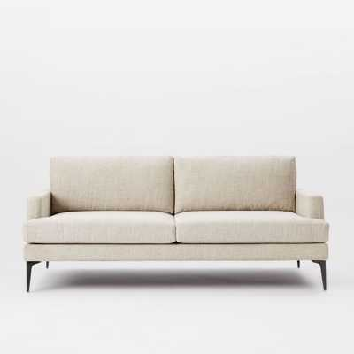 "Andes 76.5"" Sofa, Twill, Stone - West Elm"