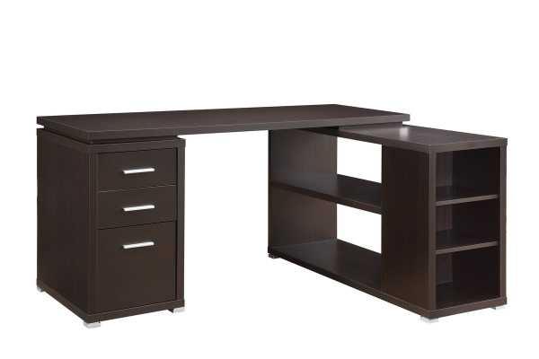 Senga L-Shape Executive Desk - Cappuccino - Wayfair