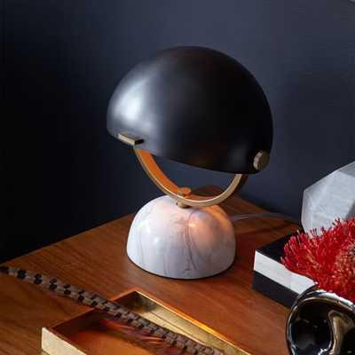Half-Round Mini Task Lamp, Bronze - West Elm