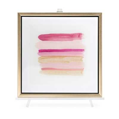 TY Pink Line Art Acrylic Framed Wall Decor w/Easel - Mercer Collection