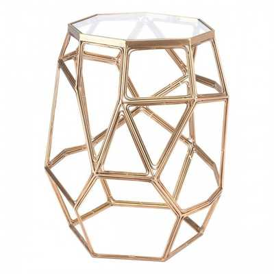 Red Side Table Gold - Zuri Studios