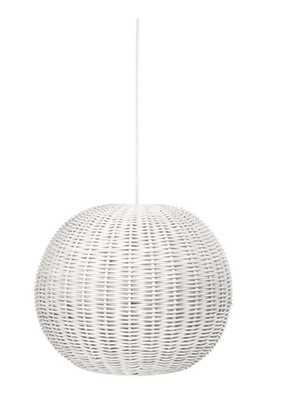 Handwoven 1-Light Globe Pendant Light - Wayfair
