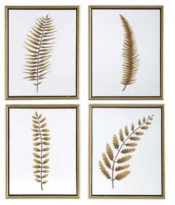 Forest Ferns Hand Painted Canvases, - Hudsonhill Foundry