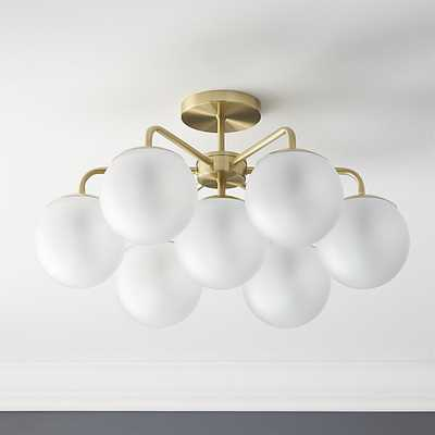 vega brushed brass flush mount light - CB2