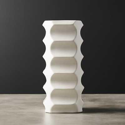 vert ivory angular vase - CB2