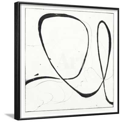 "BIG SWIRL 2 - 24"" x 24"" - Rhonda Black Frame - No mat - art.com"