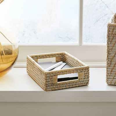 Whitewash Modern Weave Collection, Small basket - West Elm