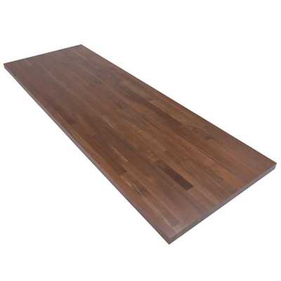 6 ft. L x 2 ft. 1 in. D x 1.5 in. T Butcher Block Countertop in Finished Walnut - Home Depot