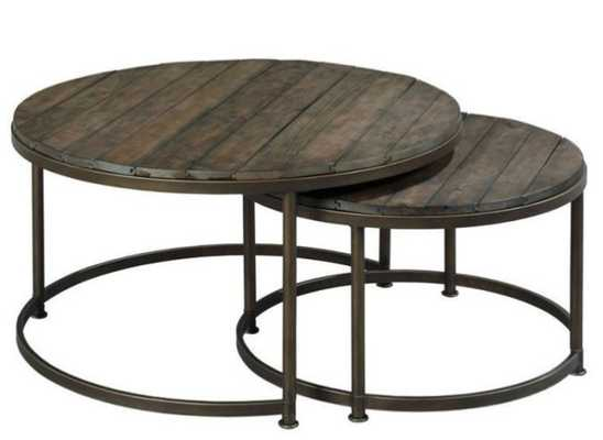 Hammary Furniture Co. Leone Round Nesting Cocktail Tables - Hayneedle