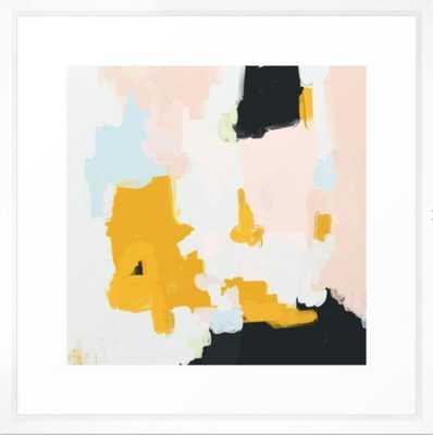 """Paige Framed Art Print - 22""""x22"""" - Vector White Frame - Society6"""