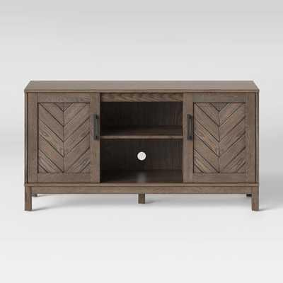 Eastford V Pattern TV Stand Brown - Threshold™ - Target