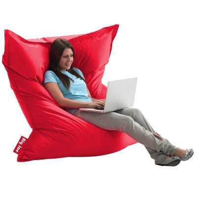 Comfort Research Big Joe Bean Bag Chair: Flaming Red - Wayfair