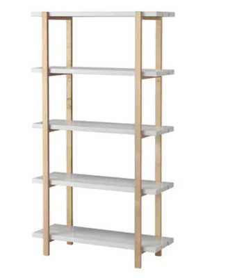 YPPERLIG Shelf unit, light gray, birch - Ikea