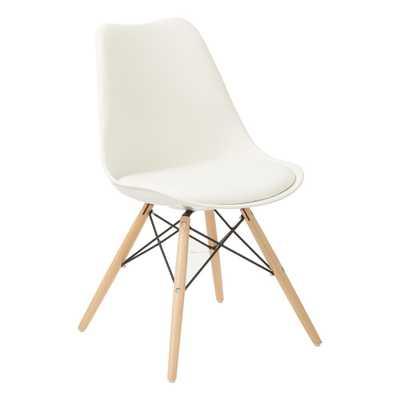 Allen White Guest Chair - Home Depot