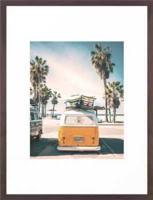 Surf Van Venice Beach California Framed Art Print by wanderhaus - Wander Print Co.