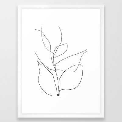 Minimalist Line Art Plant, - Society6