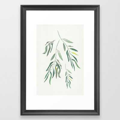 "Eucalyptus Branches II Framed Art Print, 15"" x 21"" Scoop Black Frame - Society6"