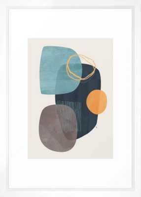 "Cyra Framed Art Print by Matadesign- FRAME Vector White- SIZE Small - 15"" X 21"" - Society6"