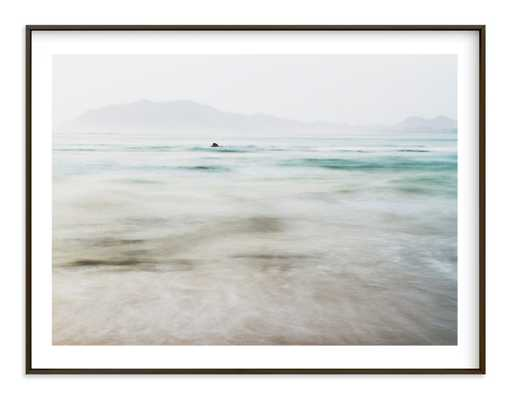 """The Pacific - 54"""" x 40""""_ matte black frame, white border - Minted"""