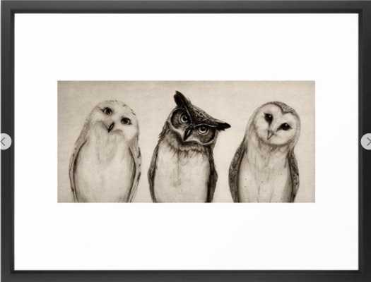 The Owl's 3 Framed Art Print 20 x 26 - Society6