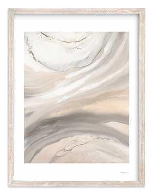 Warm Sunlit Sand, 30x40, Whitewashed Herringbone Frame, White Border, Artist Signature - Minted