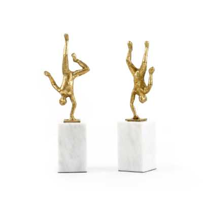 HANDSTAND STATUE, GOLD - Bungalow 5