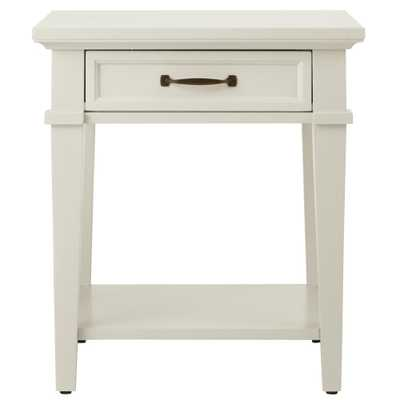 Martin Ivory Storage End Table - Home Depot
