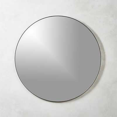 "INFINITY BLACK ROUND WALL MIRROR 36"" - CB2"