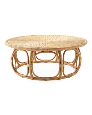Anguilla Rattan Coffee Table - Serena and Lily