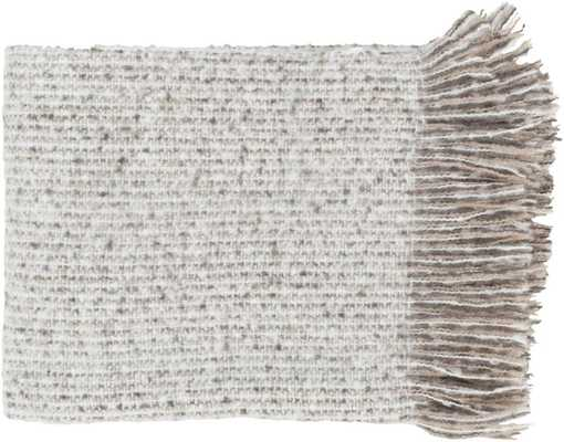 Madurai Throw Blankets in White Color by Surya - Burke Decor