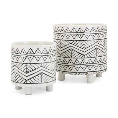 Ratlif Planters - Set of 2 - Mercer Collection