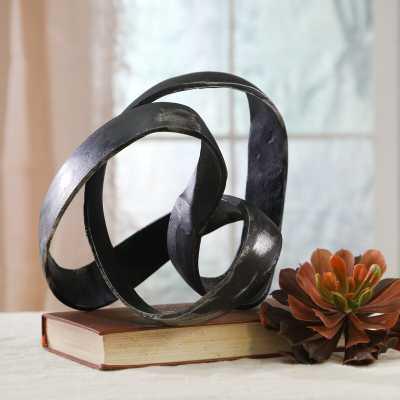 Black Verity Aluminum Knot Sculpture - Wayfair