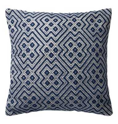 ASHA INDOOR/OUTDOOR PILLOW, NAVY BLUE - Lulu and Georgia
