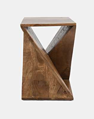 Leilla Solid Wood Abstract End Table - Wayfair